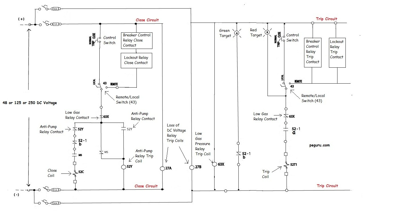 Power Systems Engineering Circuit Breaker Operation And Two Light Wiring Diagram Relay On Scheme