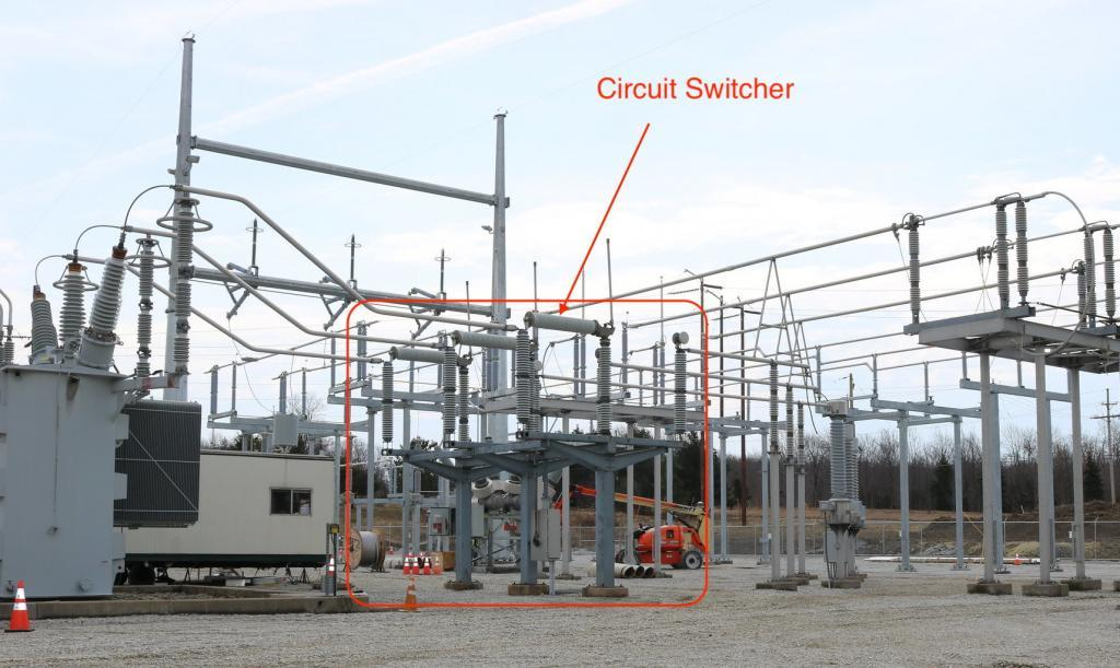Circuit switcher on high side of transformer