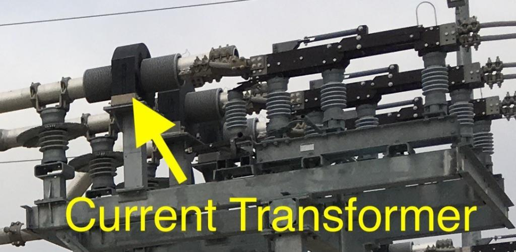 External current transformer used near a switch